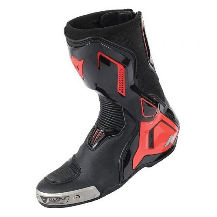 BUTY MOTOCYKLOWE DAINESE TORQUE D1 OUT BOOTS - BLACK/FLUO-RED - 43 - 1795196-628