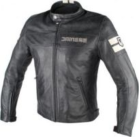 Kurtka męska skórzana Dainese HF D1 LEATHER JACKET -  BLACK/ICE
